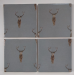 4 Ceramic Coasters in Sophie Allport Mini Highland Stag